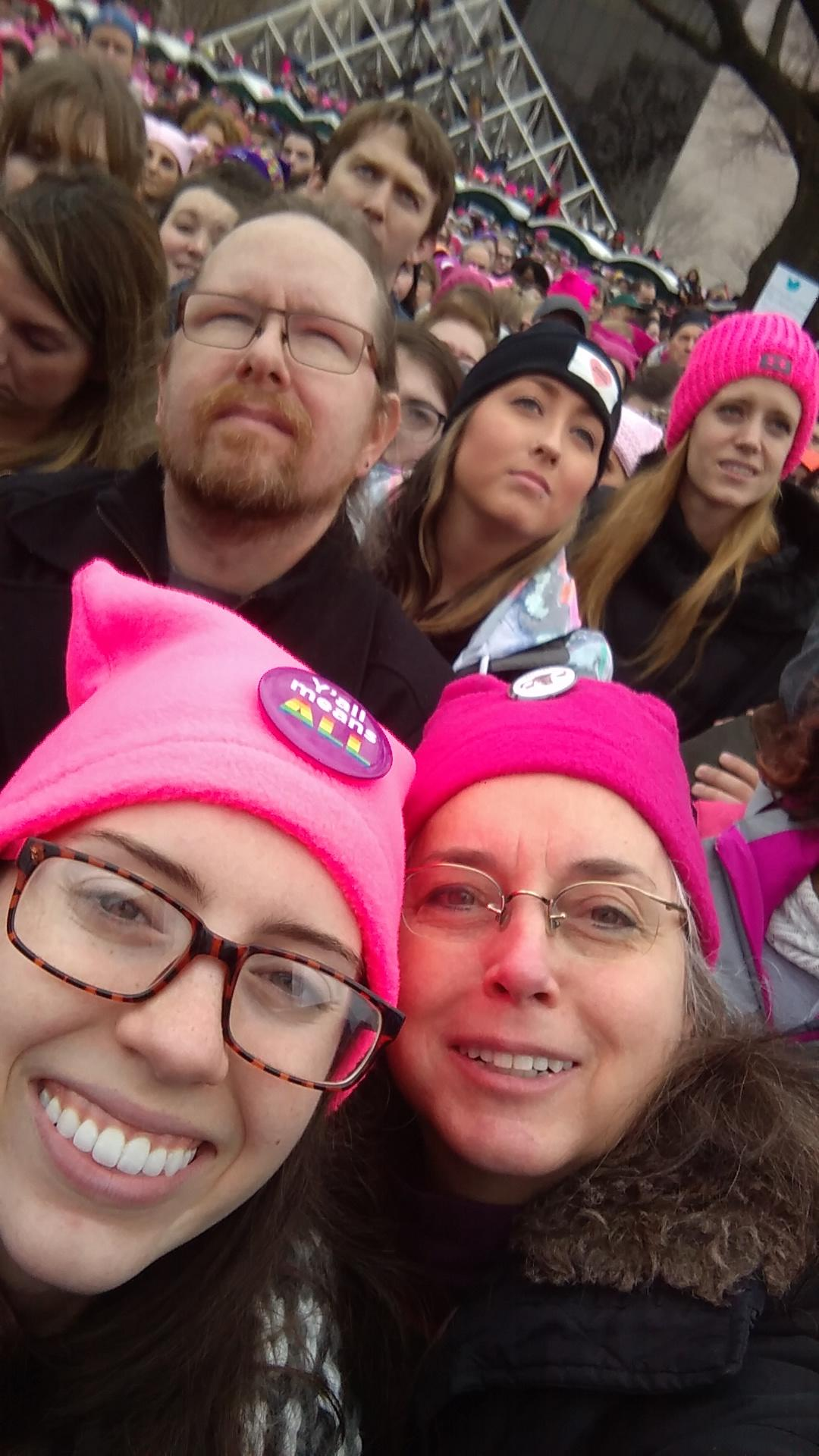 Deborah and Catherine at the Women's March in DC